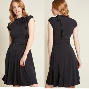 ModCloth Dance Floor Date A-Line Dress in Black